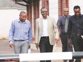 MPs Shadreck Mashayamombe, James Maridadi and Tongesayi Mudambo (far right)
