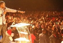 Prophet Walter Magaya during one of his church services