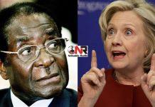 Robert Mugabe and Hillary Clinton