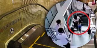 File Picture: In July this year a woman was killed after she plunged through flooring over an escalator in a Chinese department store