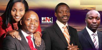 Bishop Colin Nyathi (left) and the late Tani Tuturu (far right)
