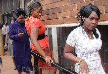 Some of Gumbura's many wives seen here in court