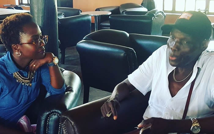 Ugandan comedian Anne Kansiime meets Oliver Mtukudzi