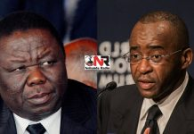 Morgan Tsvangirai and Strive Masiyiwa
