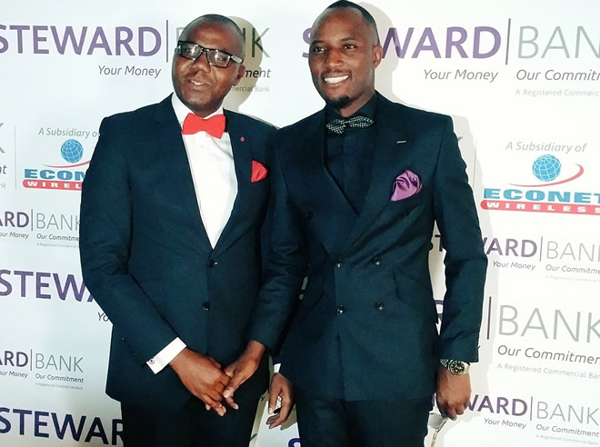 Mudiwa, pictured here with Steward Bank Chief Executive Officer Dr Lance Mambondiani