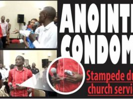 Scramble in church for annointed condoms