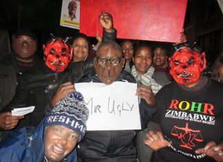 Zimbabwe Vigil mock up of Mr Ugly