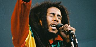 The late reggae legend Bob Marley