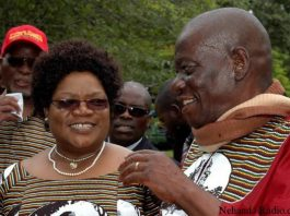 Joice Mujuru seen here with her late husband Solomon Mujuru