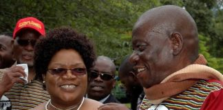 Joice Mujuru seen here with her late husband Solomon Mujuru