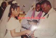 The late Learnmore Jongwe and his wife Rutendo on their wedding day