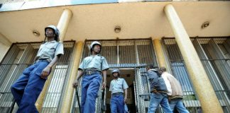File picture of police at the Harare Magistrates Courts