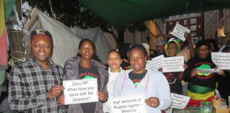 Zimbabwe Vigil activists