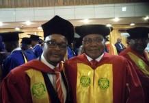 Walter Mzembi seen here with Christopher Mushohwe