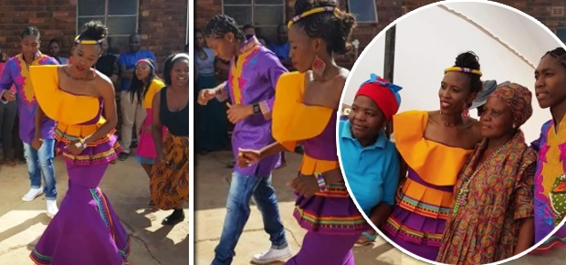 CASTER AND VIOLET SEEN HERE IN TRADITIONAL WEDDING ATTIRE (FAME SA AWARDS/LIMPOPO MEDIA)