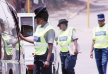 File picture of traffic police in Zimbabwe