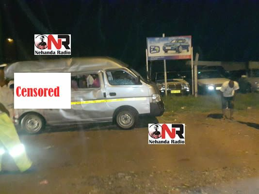 Two people died on the spot, while several others were injured — three of them seriously — when a Mutsvanzva Bus side-swiped with a kombi along Seke Road near ABC Auctions