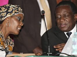 Grace Mugabe seen here with Emmerson Mnangagwa