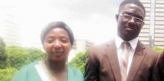 Munashe Mandizvidza and his mother Mrs Daphne Mandizvidza