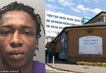 After the woman found out about the virus, Simba Kuuya (pictured) denied he was infected, but she decided to go for blood tests at Singleton Hospital, Swansea (pictured). The results came back positive