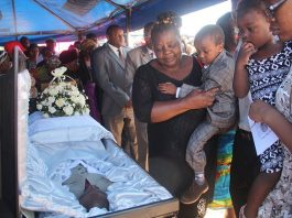 Zimbabwe Broadcasting Corporation news reporter Thulani Miga, who died on Monday, was yesterday buried at Warren Hills Cemetery