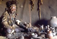 A traditional African healer is known as a Sangoma