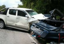 File picture of a Toyota Hilux involved in an accident