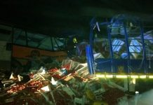 Emergency services struggled to rescue people trapped in the wreckage