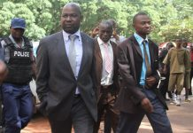 Prosecutor-General Johannes Tomana arrives at the Harare Magistrates Court