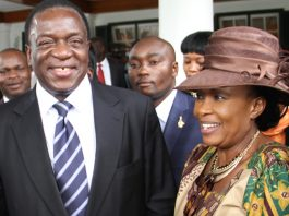 Vice President Emmerson Mnangagwa and his wife Auxilia
