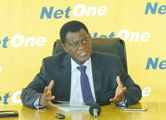 Net One managing director Reward Kangai speaking during the Easy Call Net One Cup press conference