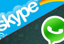 Skype and WhatsApp
