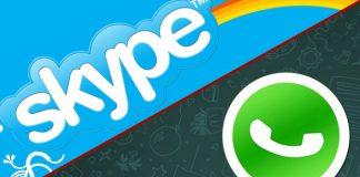 Skype and WhatsApp