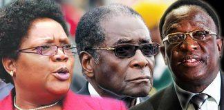 Joice Mujuru, Robert Mugabe and Emmerson Mnangagwa