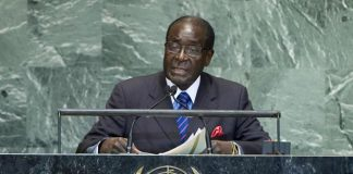 File picture of President Robert Mugabe addressing the United Nations