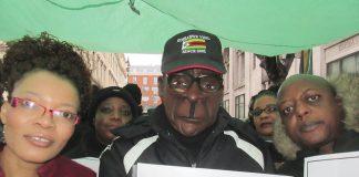 Members of the Zimbabwe Vigil in London