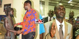 Before and After: Garikai Zindi seen here with Prophet Walter Magaya