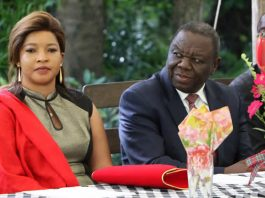 Opposition leader Morgan Tsvangirai and his wife Elizabeth