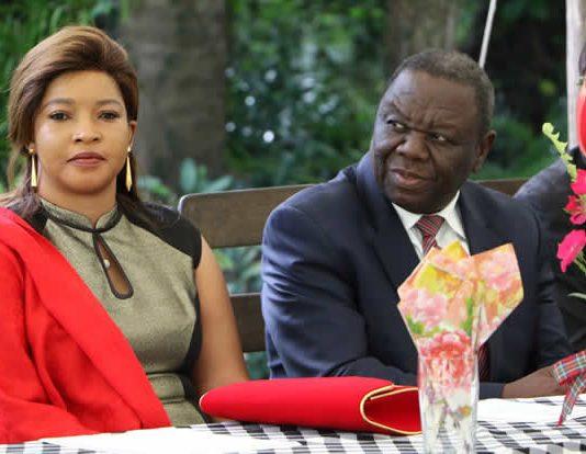 Opposition leader Morgan Tsvangirai and his wife Elizabeth