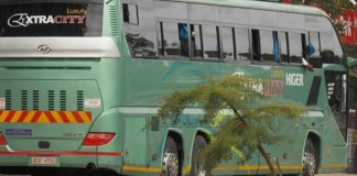 Victoria Falls-bound Extra City bus was involved in an accident