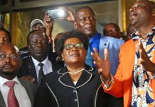 Former Vice President Joice Mujuru who is now president of National People's Party (NPP)