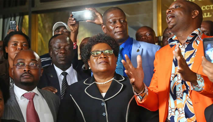 Zimbabwe People First president Joice Mujuru