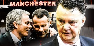 Jose Mourinho, Ryan Giggs and Louis van Gaal