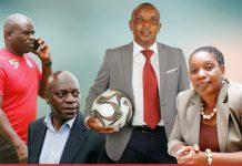 Nation Dube, Ian Gorowa, Edzai Kasinauyo and Henrietta Rushwayo