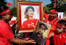 Aung San Suu Kyi is blocked from becoming president as she has children with foreign nationality.