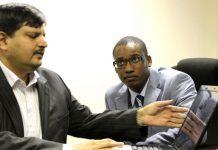 Atul Gupta (left) and Duduzane Zuma. (Gallo)