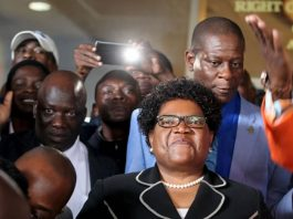 Former Vice President and leader of the opposition party Zimbabwe People First (ZimPF), Joice Mujuru
