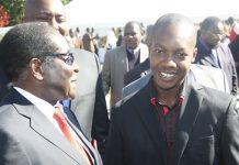 Highfield West Zanu PF MP Psychology Maziwisa seen here with President Robert Mugabe