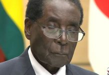 Robert Mugabe sleeping on the podium in Japan