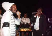 Winky D and Soul Jah Love share the stage at Takashinga Cricket Club in Highfield